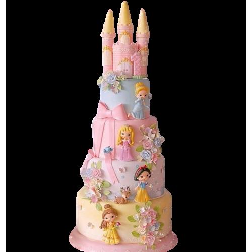 disney princesses castle cake 6 7