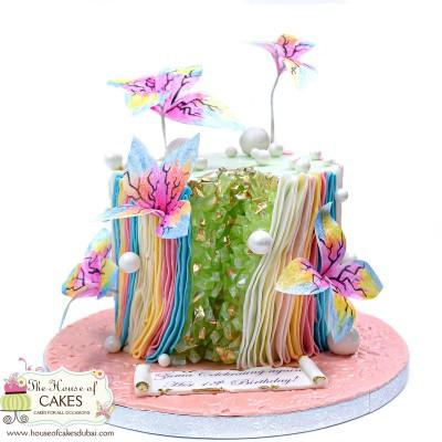 Modern trendy geode cake