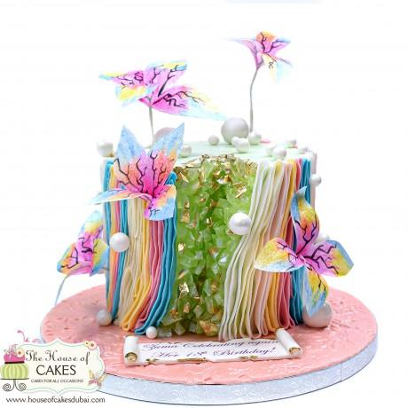 modern trendy geode cake 6