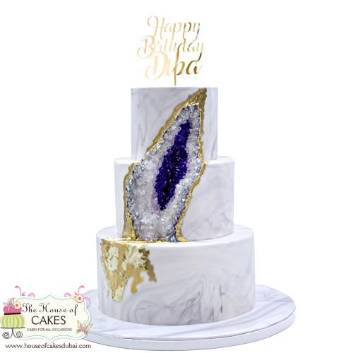 Geode cake 6