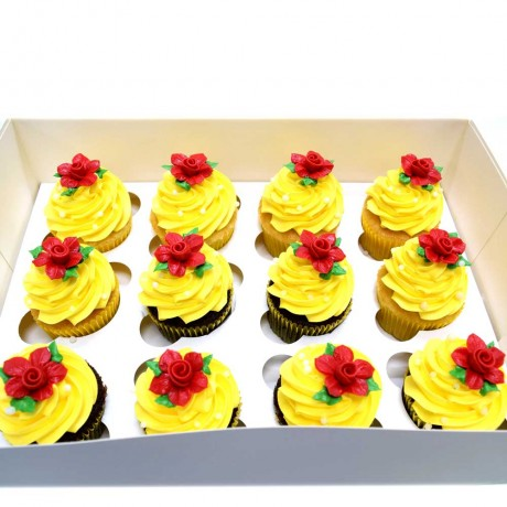 belle beauty and beast theme cupcakes 12