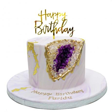 light violet geode cake 6