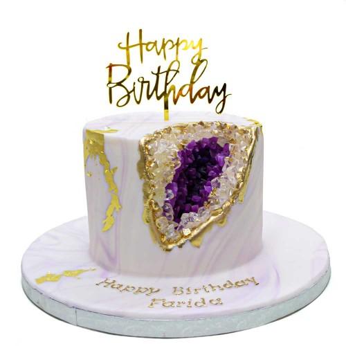 light violet geode cake 7