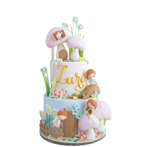 1st birthday fairy cake 7
