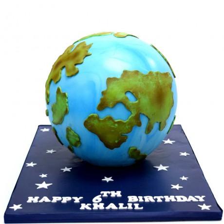 globe earth cake 3 6