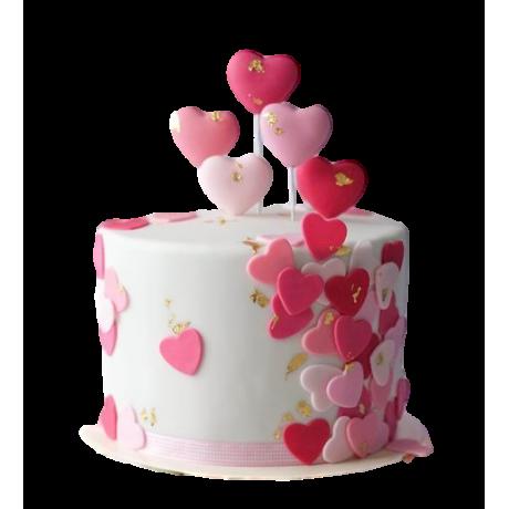 birthday cake with hearts 6
