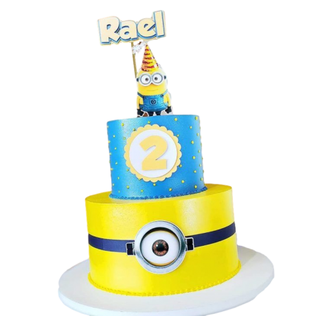 minions cake 1 12