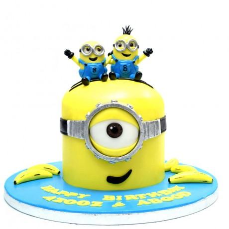 minion cake 9 12