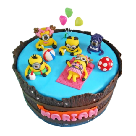 minions in pool cake 12
