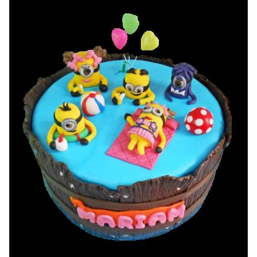minions in pool cake 13