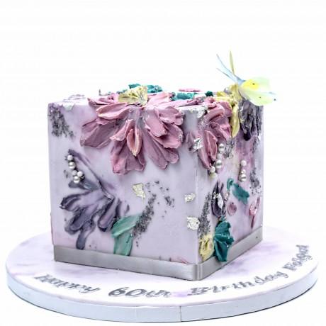 modern buttercream cube cake 12