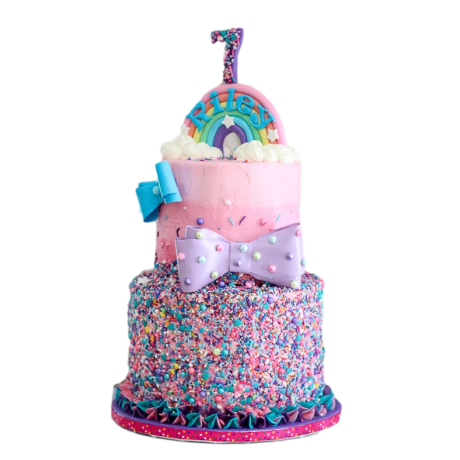 rainbow sprinkles cake 6