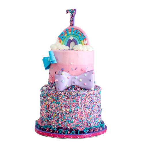Rainbow sprinkles cake
