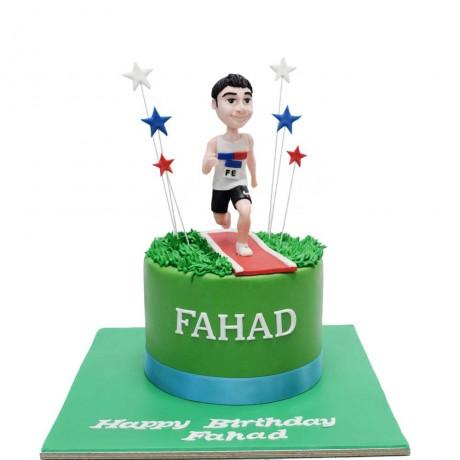 marathon runner cake 6