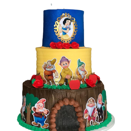 cake snow white 3 6