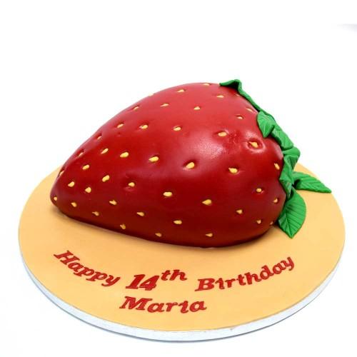 strawberry shaped cake 7