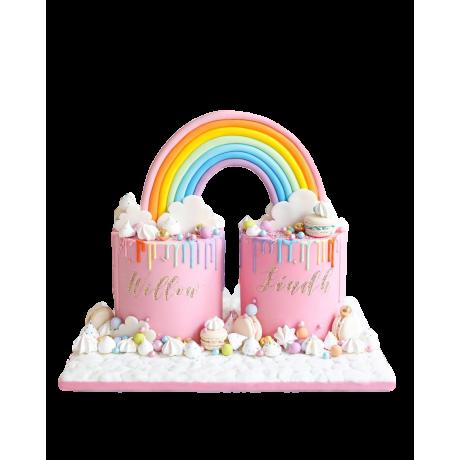 baby girl twins cake 6