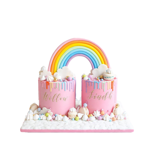 baby girl twins cake 7