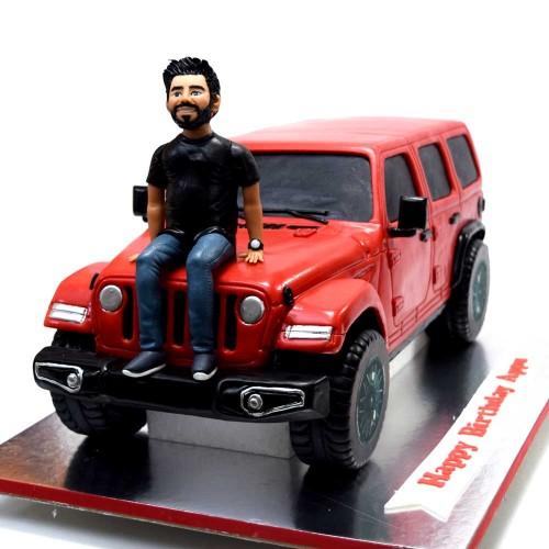 red wrangler jeep cake 10