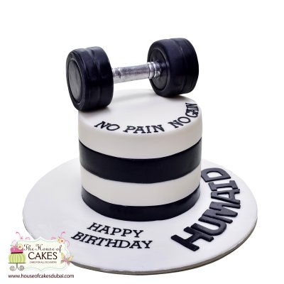 Weights lifting cake 4