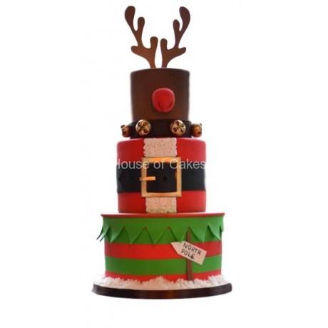 christmas themed cake 6