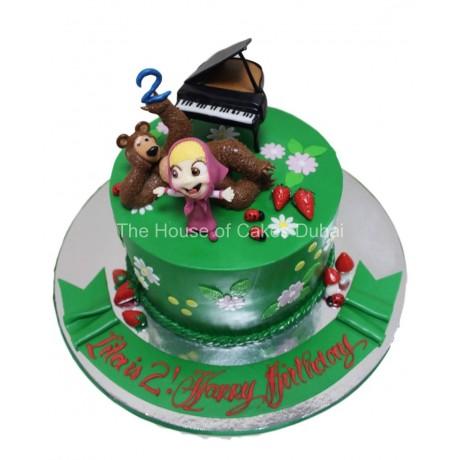 masha and the bear cake 3 plus piano 6