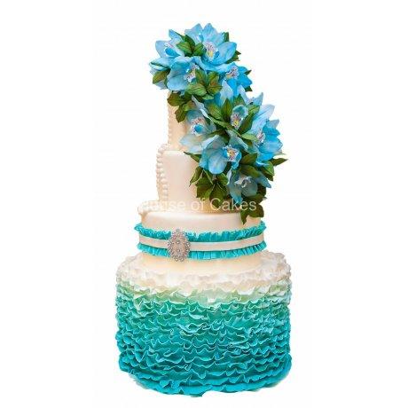 blue fantasy cake 6