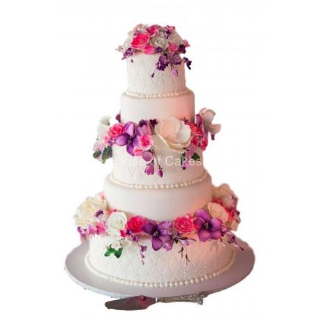 Amazing flowers cake 4