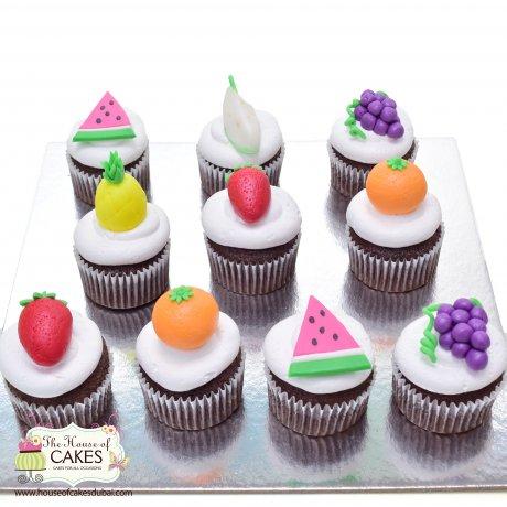 summer fruit cupcakes 6