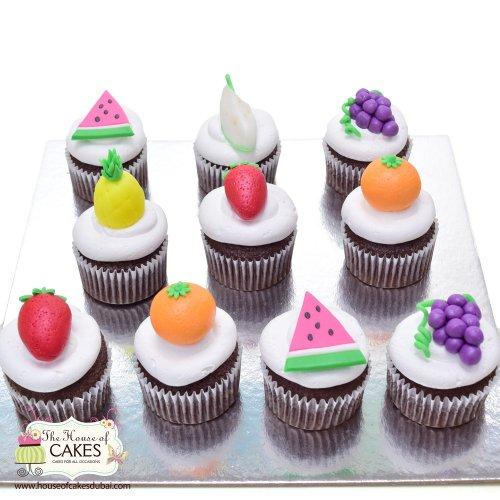 summer fruit cupcakes 7