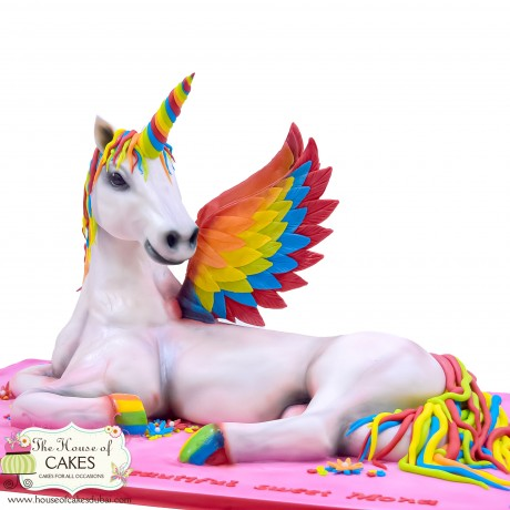 3d unicorn cake 6