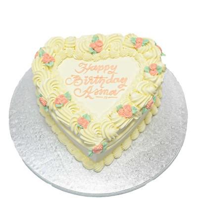 Cream heart cake