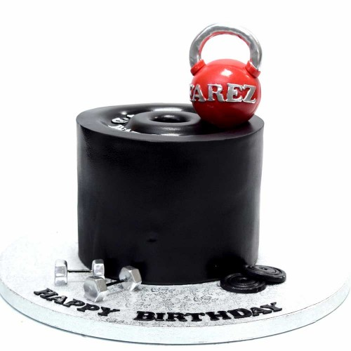 Weights Lifting Bodybuilding Cake 5