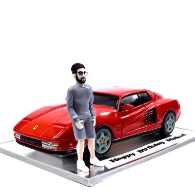 Ferrari car cake 3