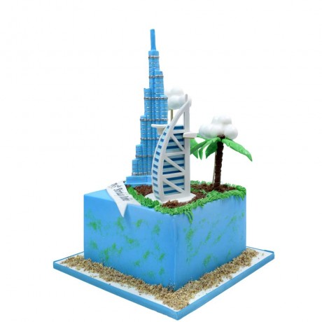 burj khalifa and burj al arab cake 12