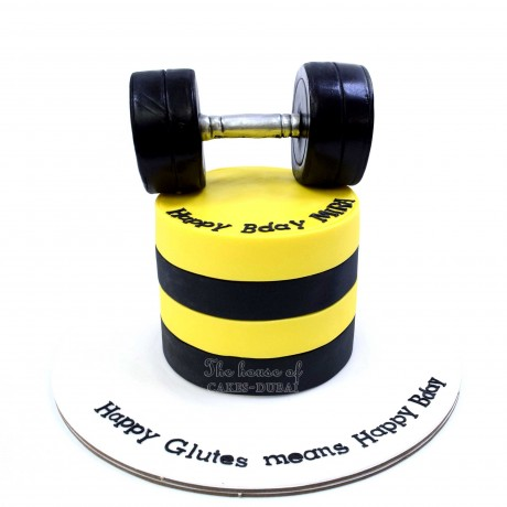 weights lifting cake 5 12