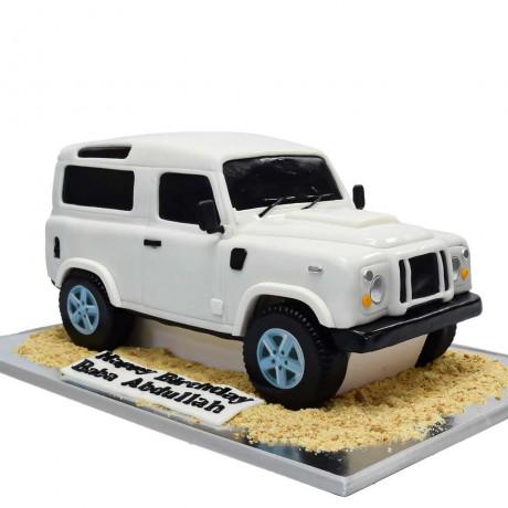 wrangler jeep cake white 6
