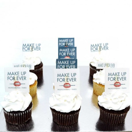 cupcakes with company logo 6 12