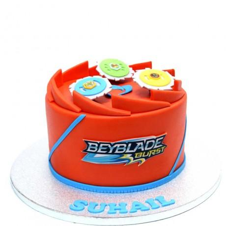 beyblade cake red 6