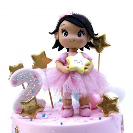 Baby girl and stars cake