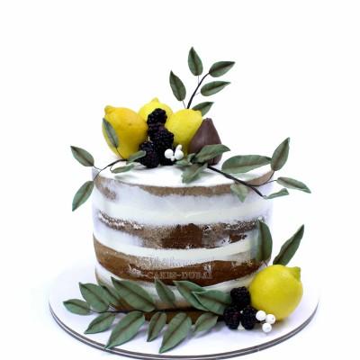 Lemon Theme Birthday Cake