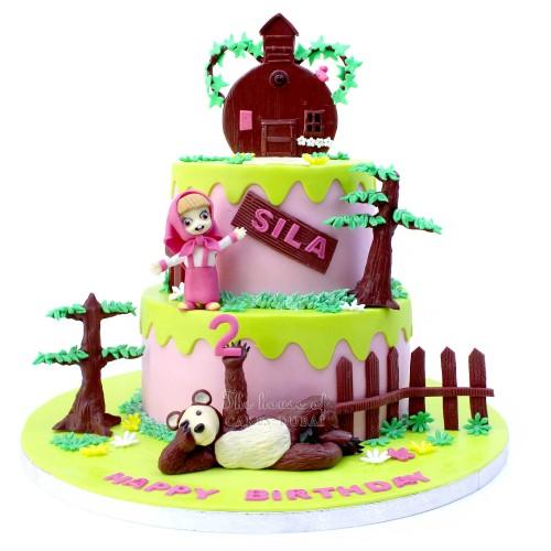 Masha and bear cake 9