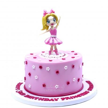 ballerina dancer theme cake 6