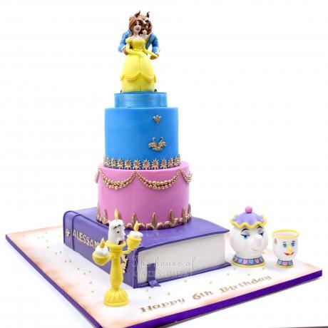beauty and the beast cake 3 6