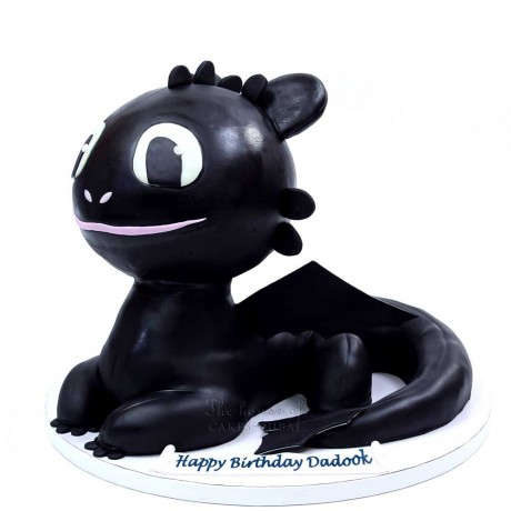 how to train your dragon cake - toothless cake 3d 7