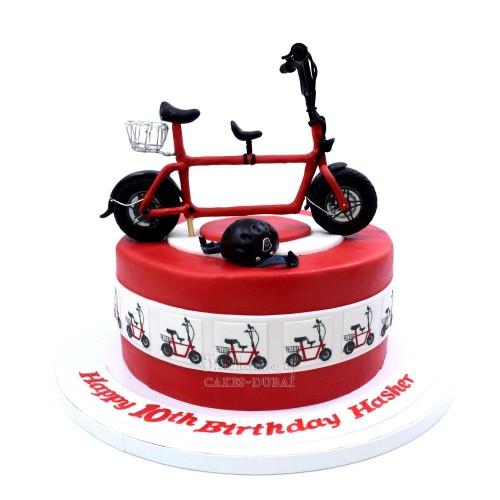 Bike bicycle cake 4