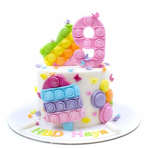 Bubble popper fidget cake 2