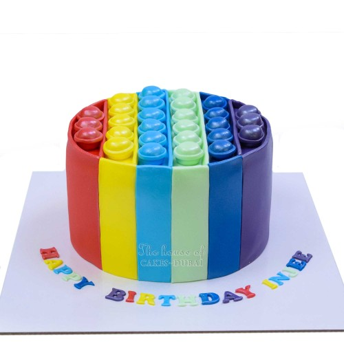 Bubble popper fidget cake 1