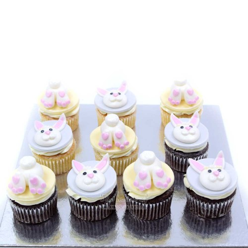 bunny easter cupcakes 7