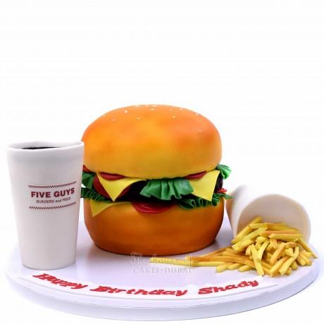 five guys burger meal cake 6